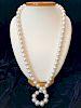 Fine Opera Length White South Sea Pearl Necklace