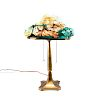 PAIRPOINT FLORAL PUFFY TABLE LAMP