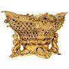 A Fine French Rococo Ormolu Bronze Basket Centerpiece with Putti, Henri Picard