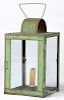 Green painted tin lantern