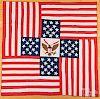 Patriotic patchwork eagle quilt