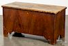Diminutive painted pine blanket chest