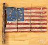 Painted wood US flag gate