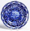 Historical blue Staffordshire soup bowl