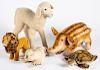 Five Steiff animals