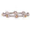 A Ladies Yellow & White Diamond Bracelet in 18K