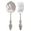 "Whiting ""Lily"" Sterling 2-pc Salad Set"