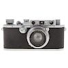 Leica III a Camera, with Lens and Carrying Case