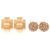 Two Pairs of Ladies 14K Classic Earrings