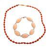 A Ladies Angel Skin Bracelet & Coral Necklace