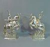 Pair of German Silver Knights on Horseback