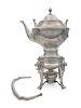 An Austrian Silver Tea Kettle on Lamp Stand<br>He