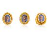 A Collection of Yellow Gold Portrait Jewelry,