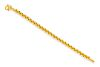 A High Karat Yellow Gold Link Bracelet,
