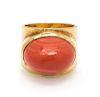 An 18 Karat Yellow Gold and Coral Ring, Boris LeBeau,