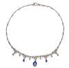 An 18 Karat White Gold, Tanzanite and Diamond Necklace,
