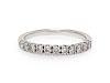 A 14 Karat White Gold and Diamond Ring,