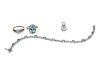 A Collection of White Gold and Aquamarine and Topaz Jewelry,