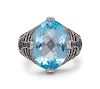 A Collection of 14 Karat White Gold, Blue Topaz and Diamond Jewelry, Le Vian,