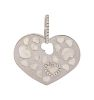 An 18 Karat White Gold, Diamond and Mother-of-Pearl Heart Pendant, Nanis,