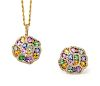 A Collection of 14 Karat Yellow Gold, Multi Color Sapphire and Diamond Jewelry, Effy,