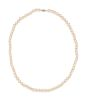 A 14 Karat White Gold and Cultured Pearl Necklace,