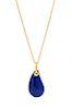 An 18 Karat Yellow Gold 'Teardrop' Lapis Lazuli Pendant/Necklace, Elsa Peretti for Tiffany & Co.,