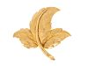 An 18 Karat Yellow Gold Leaf Brooch, Tiffany & Co.,