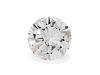 A 1.38 Carat Round Brilliant Cut Diamond,