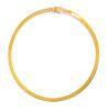 A 14 Karat Yellow Gold Collar Necklace, Italian,