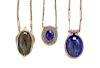 A Collection of Silver, Hardstone and Gemstone Necklaces,