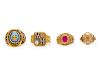 A Collection of 10 Karat Yellow Gold Rings,