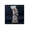 "Antique Italian Carved Marble and Alabaster ""Rebec"