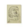 "Russian School Charcoal On Paper ""Portrait Of A Wo"
