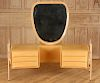 RARE MAPLE VANITY & MIRROR BY SILVIO CAVATORTA