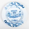 English Delftware Blue and White Small Plate