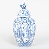 Delft Blue and White Jar and Cover