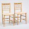 Pair of American Paint Decorated Side Chairs