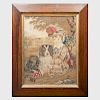 Two Needlework Pictures with Dogs