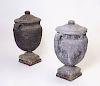 Pair of 'Adams' Style Lead Urns