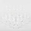 Set of Twelve Steuben Small Crystal Wine Glasses
