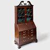 George III Mahogany Slant-Front Bookcase