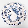 Continental Faience Blue and White Charger