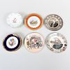 Six Meissen Porcelain Dessert Plates and a Group of Porcelain Wares