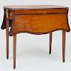 George III Style Inlaid Satinwood Pembroke Table
