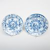 Two Chinese Export Porcelain Blue and White Dishes