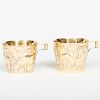 Pair of Lalaounis Silver Gilt Cups