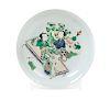 A Famille Verte Porcelain Plate Diam 11 in., 28 cm.