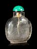 A Large Rock Crystal Snuff Bottle Height 2 7/8 in., 7 cm.
