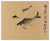 Attributed to Qi Baishi Image: height 11 3/4 x width 14 3/4 in., 30 x 37 cm.
